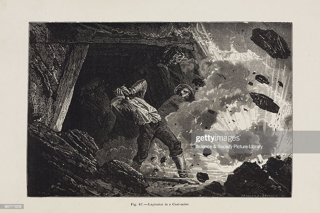 Illustration from �Underground life or Mines and miners� by Louis Simonin published in London in 1869