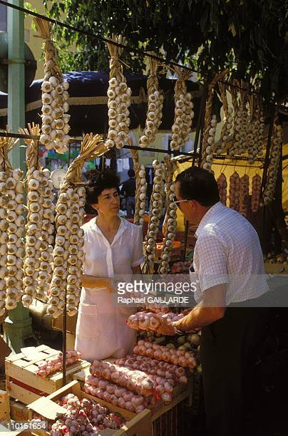 Illustration Girona Figueres and Cadaques in Catalonia Spain in May 1992 Market of San Feliu de Guixols