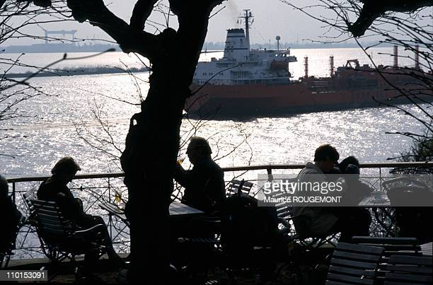 Illustration Hamburg Germany in 1999 The Blankenese Quarter