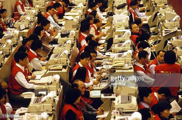 Illustration Hong Kong On June 1st 1996 Stock Exchange