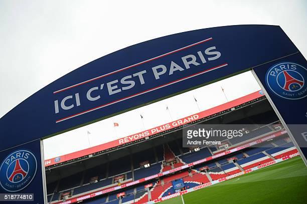 Illustration Ici C'est Paris during the French Ligue 1 match between Paris Saint Germain PSG and OGC Nice at Parc des Princes on April 2 2016 in...