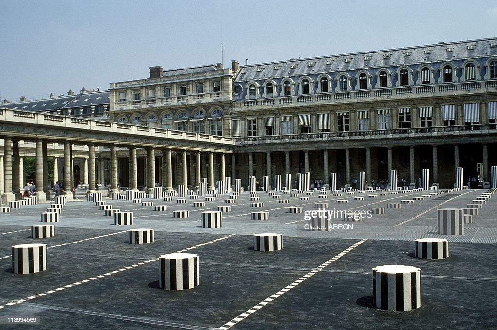 Illustration In Paris France In June 1994PalaisRoyal Buren's Columns