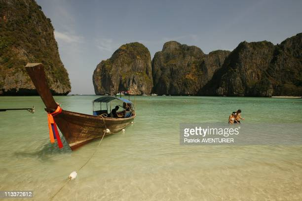 Illustration Islands Of The South Thailand In February 2008 Koh Phi Phi Le island is famous for its Ao Maya Bay and its beach 'Maya Beach' where the...