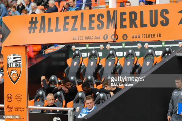 Illustration Les Merlus during the Ligue 2 match between Lorient and Tours on October 28 2017 in Lorient France