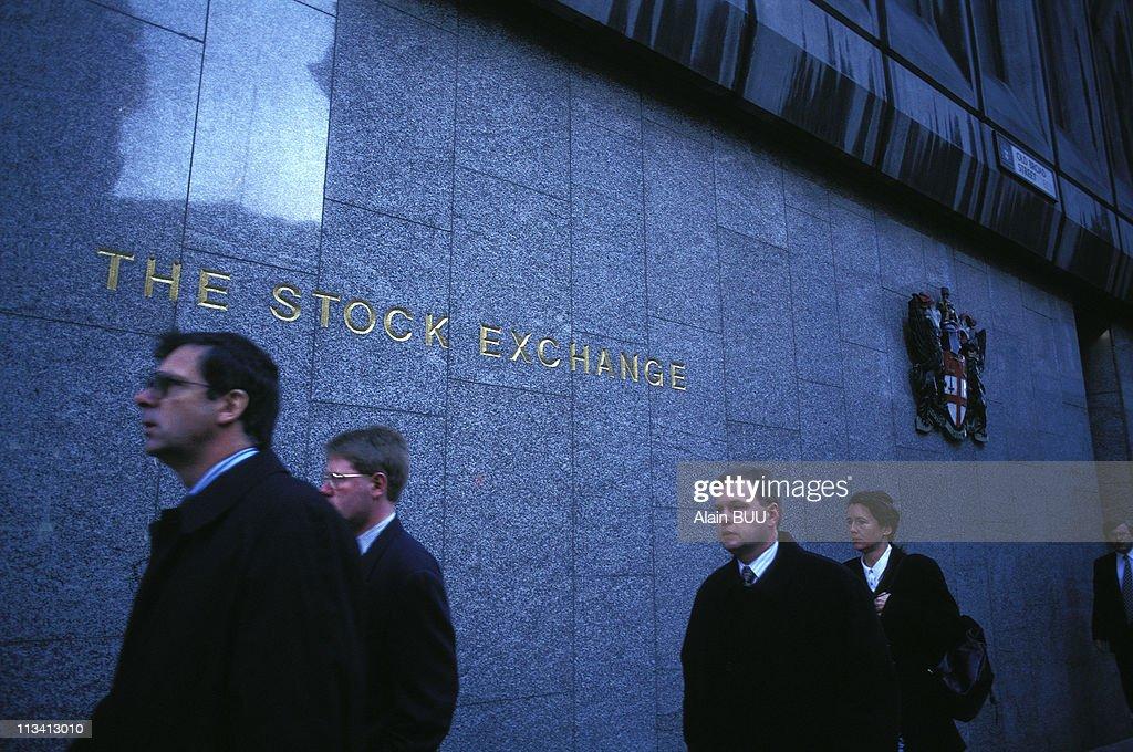Illustration London In United Kingdom On April 1997 Th Stock Exchange