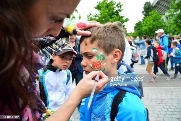 Illustration Maquillage Jour 1 Roland Garros 2015 Photo Dave Winter / Icon Sport