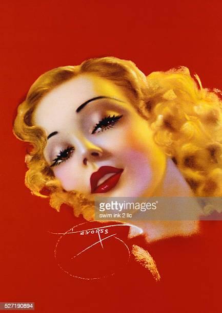 Illustration of a Blonde Woman's Face by Billy Devorss
