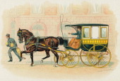 Illustration of a horsedrawn Studebaker carriage 1893 The image appears in the Studebaker souvenir book produced for the 1893 World's Columbian...