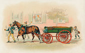 Illustration of a Studebaker ThreeSpring Express Wagon 1893 The image appears in the Studebaker souvenir book produced for the 1893 World's Columbian...