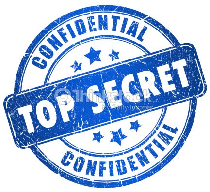 Illustration Of A Top Secret Stamp In Blue Stock Photo
