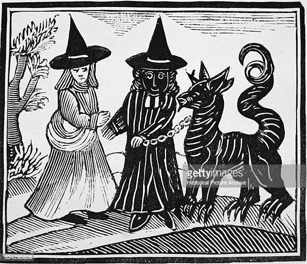 Illustration of a White Witch and Black Witch