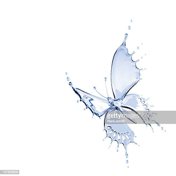 Illustration of butterfly made from water
