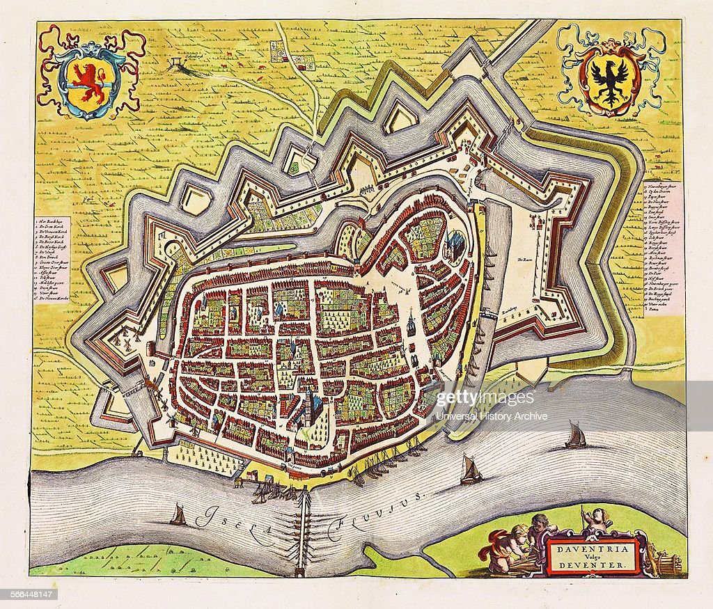 Illustration of Deventer from the Stedenboek By Frederick de Wit Dated 17th Century