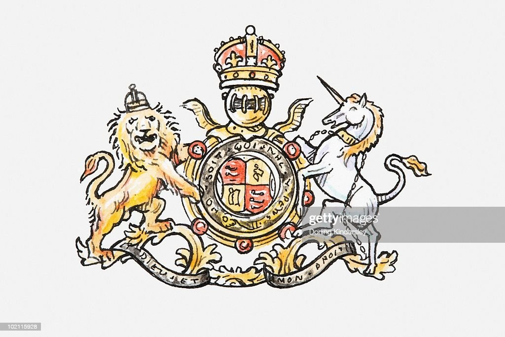 Illustration of English coat of arms