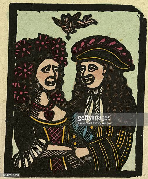 Illustration Of English Tales Folk Tales And Ballads Two People In Love