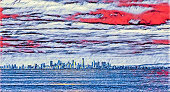 Illustration of Melbourne CBD skyline