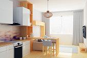 Small studio flat in gray colors
