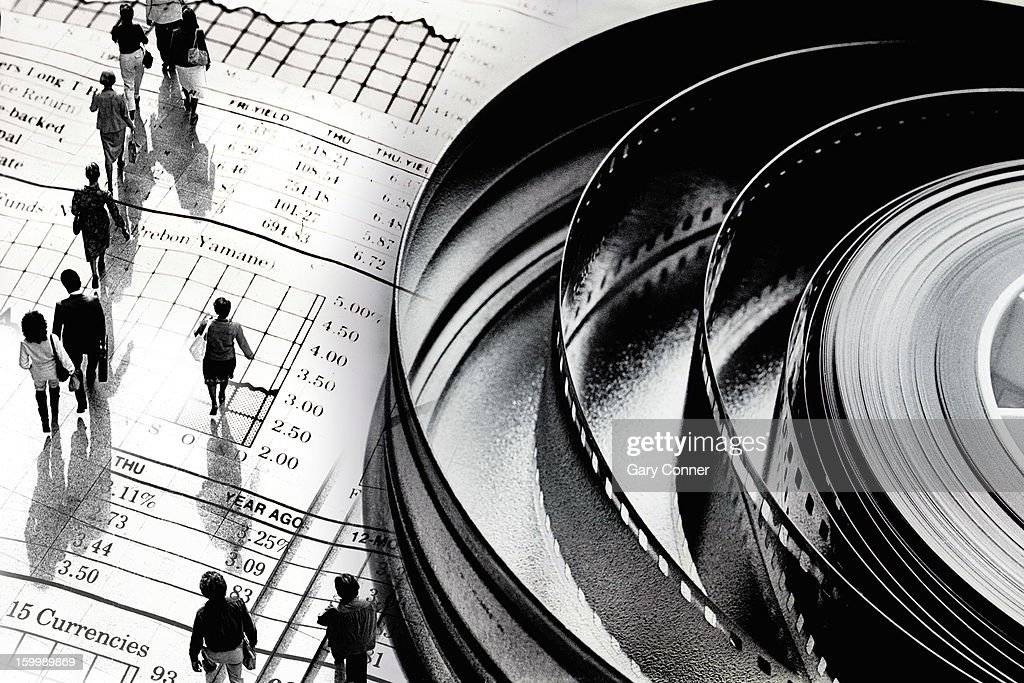 Illustration of movie business : Stock Photo