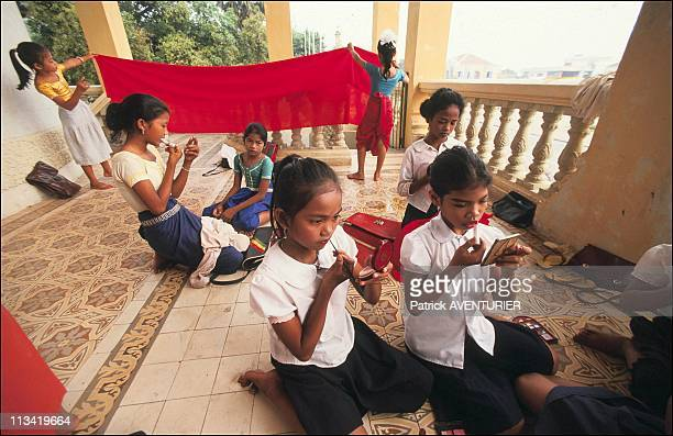 Illustration Of PhnomPenh On October 01st 1991 The Four Generations Of Dancers Of The King In The Royal Palace They Are Part Of The National School...