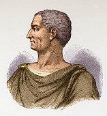 Illustration of Roman emperor Julius Caesar