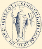 Illustration of Seal of Anselm of Canterbury Benedictine monk a philosopher and a prelate Archbishop of Canterbury from 1093 to 1109 c 1033 –...