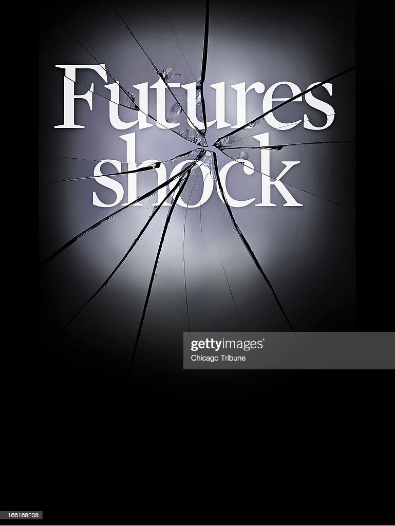 illustration of shattered headline 'Futures shock' can be used with stories about futures market