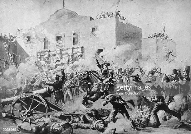 Illustration of the Battle of the Alamo San Antonio Texas March 6 1836