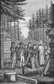 Illustration of the founding of Dartmouth College in 1769 Hanover New Hampshire