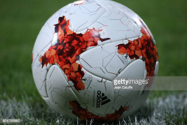 Illustration of the official Adidas ball during the UEFA Women's Euro 2017 quarter final match between England and France at Stadion De Adelaashorst...