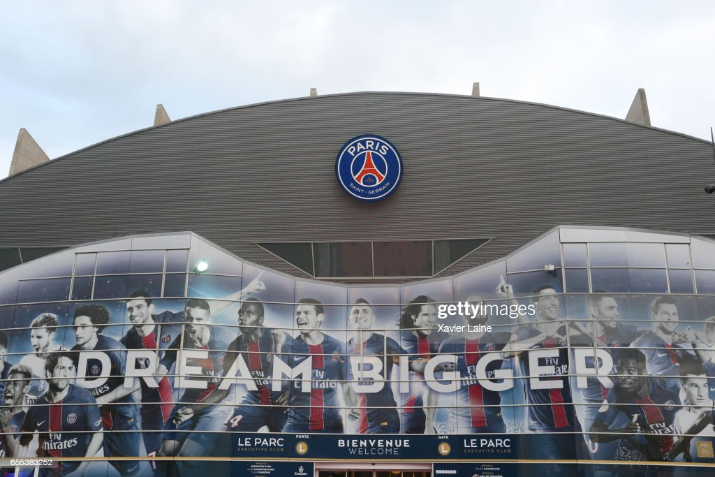 illustration of the Parc des Prines stadium before the French Ligue 1 match between Paris Saint Germain and Lyon OL at Parc des Princes on March 19, 2017 in Paris, France.