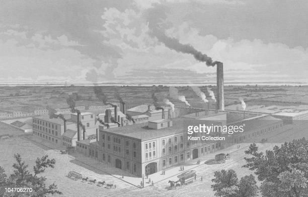 Illustration of the Pascal iron works in Philadelphia Pennsylvania circa 1860