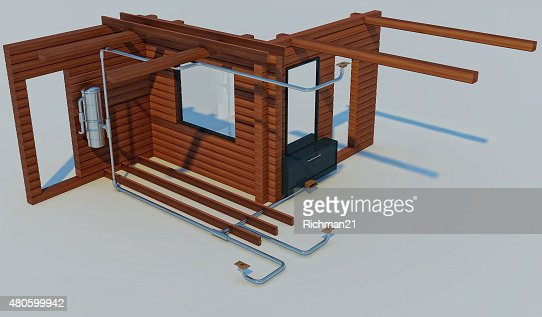 3D illustration of the scheme of the device : Stock Photo