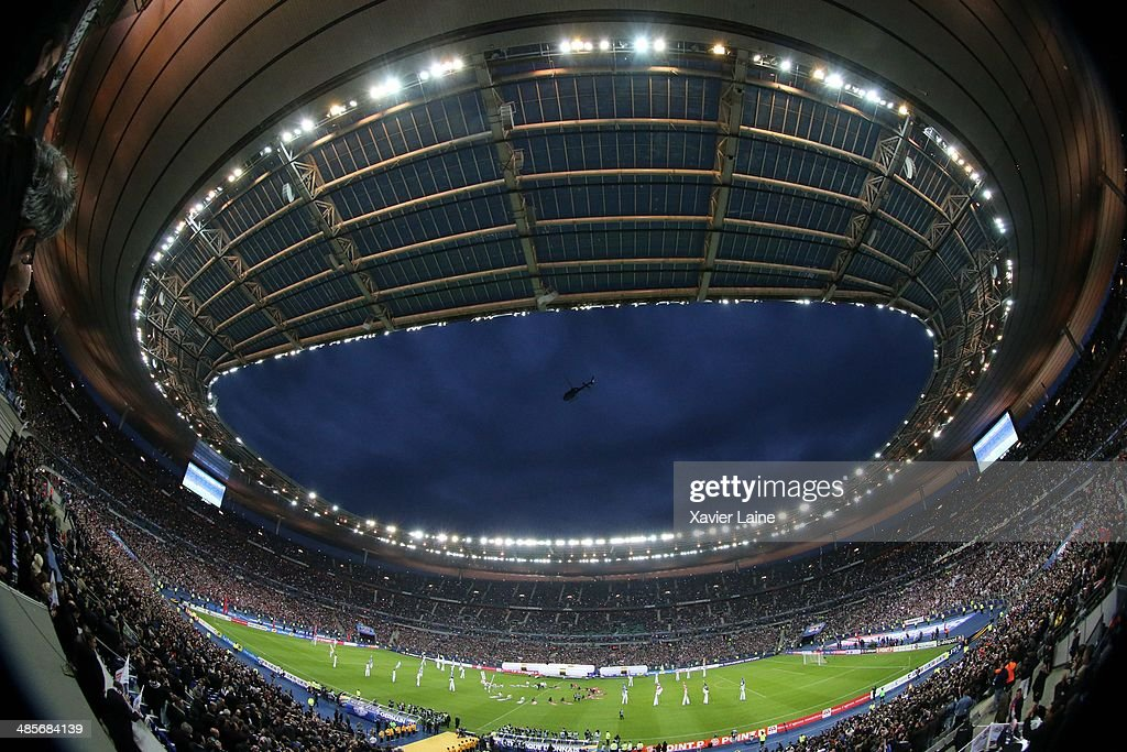 Illustration of the stadium during the French Finale League Cup between Paris Saint-Germain FC and Olympique Lyonnais FC at Stade De France on April 19, 2014 in Paris, France.