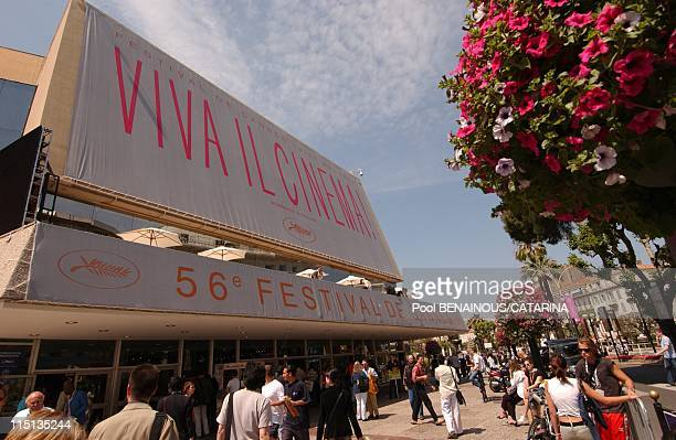 Illustration on the 56th Cannes Film Festival in Cannes France on May 18 2003