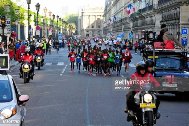 Illustration Peloton tete de Course Marathon de Paris 2011