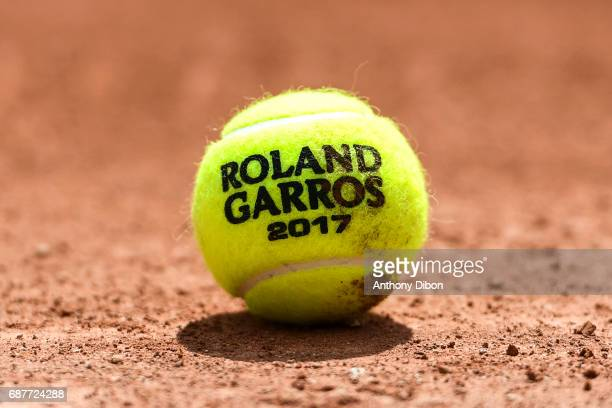 Illustration picture during qualifying match of the 2017 French Open at Roland Garros on May 24 2017 in Paris France