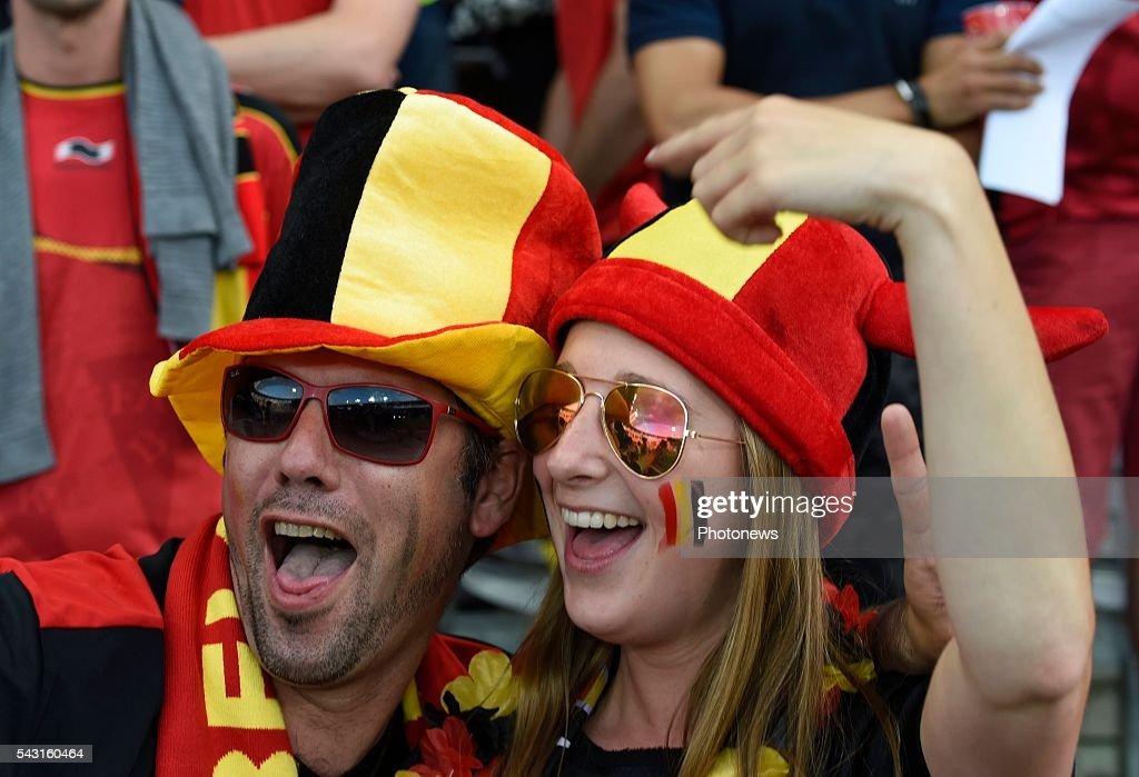 illustration picture of Belgian fan during the UEFA EURO 2016 Round of 16 match between Hungary and Belgium at the Stadium Toulouse on June 26, 2016 in Toulouse, France ,