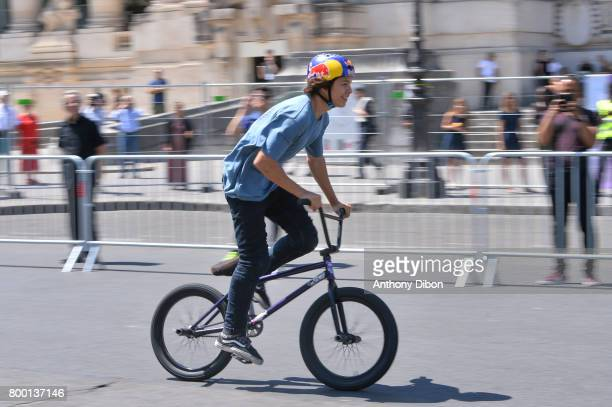 Illustration picture of BMX in front of le Grand Palais during the Olympic Day Paris Olympic Park comes to life for Olympic Day on June 23 2017 in...