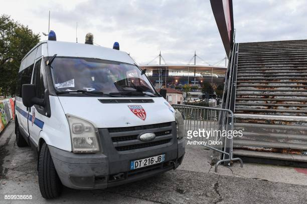 Illustration picture of police car during the Fifa 2018 World Cup qualifying match between France and Belarus on October 10 2017 in Paris France