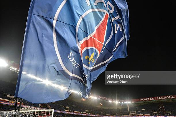 Illustration picture of PSG flag during the French League Cup quarter final match between Paris Saint Germain PSG and Fc Metz at Parc des Princes on...