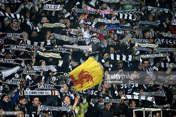 illustration picture of supporters of Charleroi in the stand pictured during Jupiler Pro League match between RCS Charleroi and KRC GENK on October...