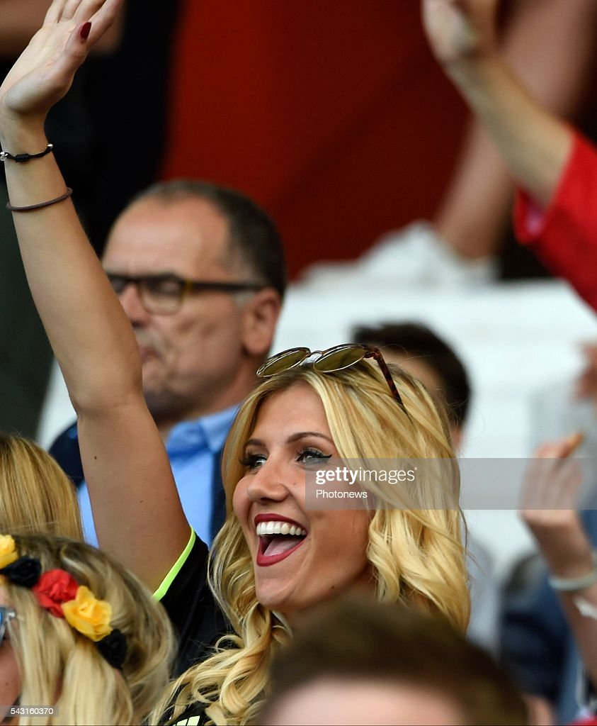 illustration picture of the family of Yannick Carrasco forward of Belgium Noemie Happart during the UEFA EURO 2016 Round of 16 match between Hungary and Belgium at the Stadium Toulouse on June 26, 2016 in Toulouse, France ,