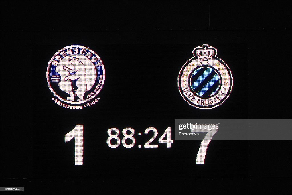 illustration picture of the final score during the Jupiler League match between Beerschot AC and Club Brugge on December 09, 2012 in the Kiel Stadium in Antwerpen, Belgium.