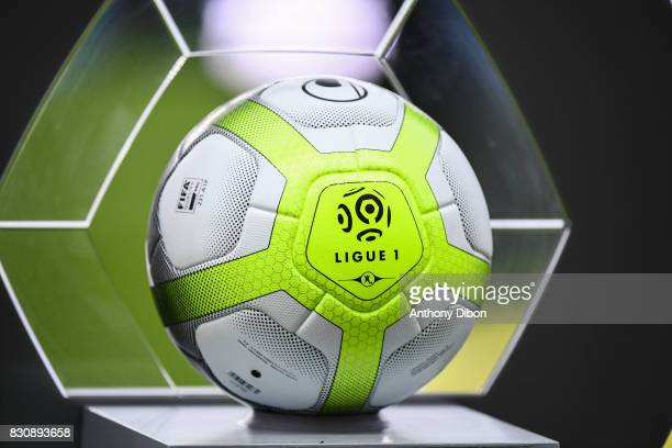 Illustration picture of the official ball of Ligue 1 during the Ligue 1 match between Amiens SC and Angers SCO at Stade de la Licorne on August 12...