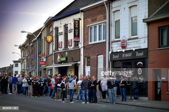 Illustration picture showing SC Eendracht Aalst locations and fans before the Croky Cup 1/16 final match between SC Eendracht Aalst and KRC Genk in...