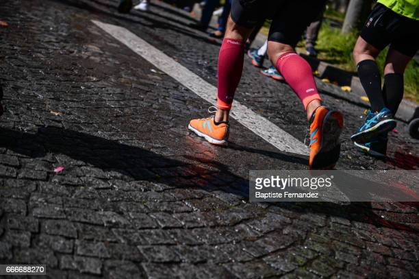 Illustration pictures during the Marathon of Paris 2017 on April 9 2017 in Paris France