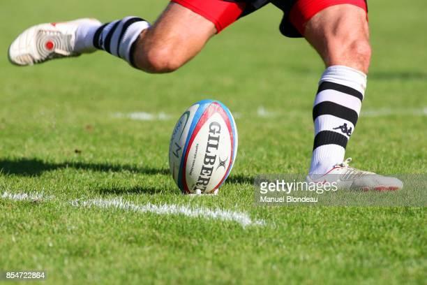 Illustration Pied Ballon Bayonne / Brive Rugby Top14 8eme Jounee