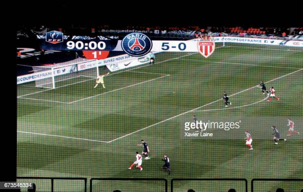 Illustration score of the game during the French Cup SemiFinal match between Paris SaintGermain and As Monaco at Parc des Princes on April 26 2017 in...