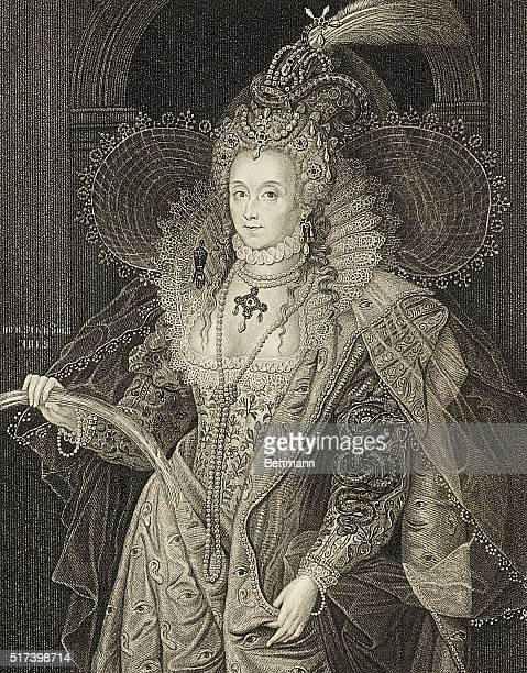 Illustration shows Queen Elizabeth From the original of Zucchero in the collecton of the Marquis of Salisbury Undated