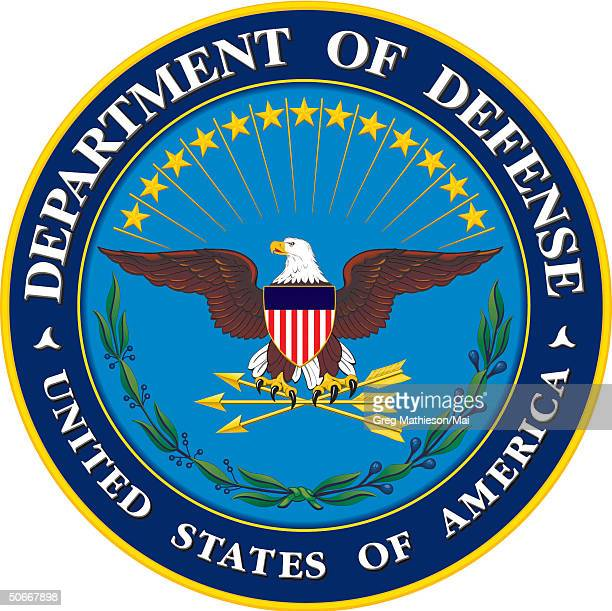 Illustration shows the seal of the United States Department of Defense 2001